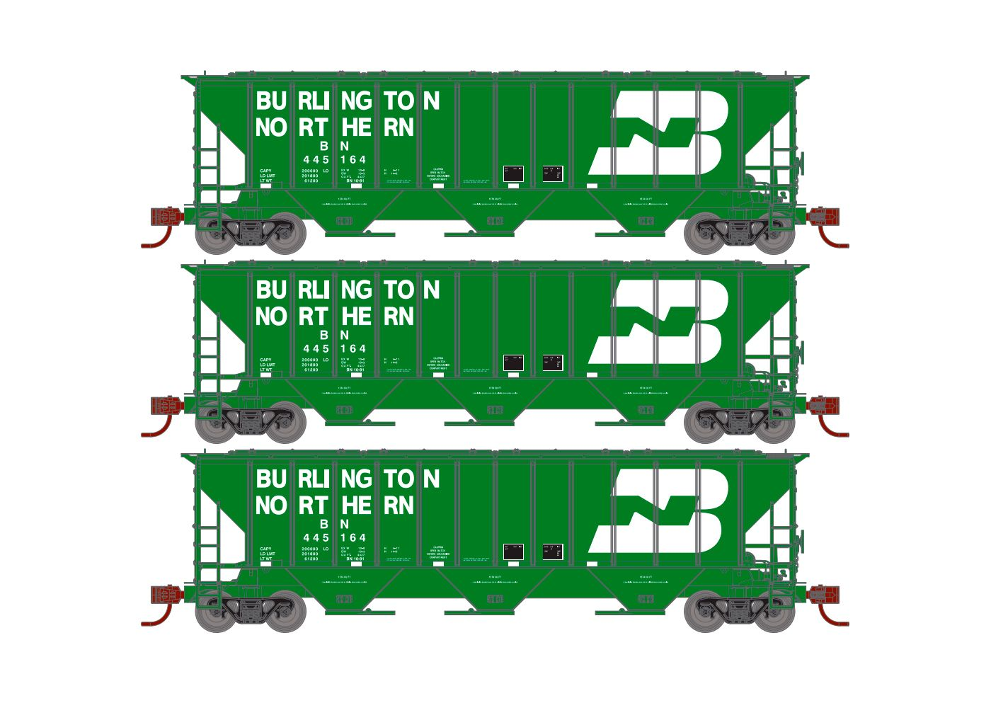 Athearn 97332 PS 2600 Covered Hopper Burlington Northern BN 430217 for sale online