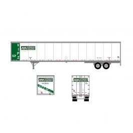 Athearn ATH72736 RTR HO 53ft Wabash Duraplate Trailer, Vermont Rail on