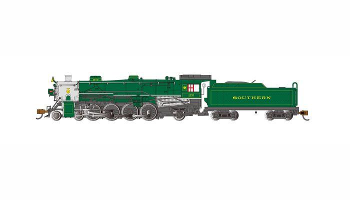 Bachmann 53451, N Scale 4-8-2 Light Mountain w Econami Sound & DCC,  Southern Railway #1489
