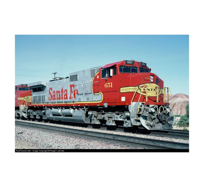 InterMountain HO GE C44-9W, w ESU LokSound DCC, ATSF #603, 497201S-01