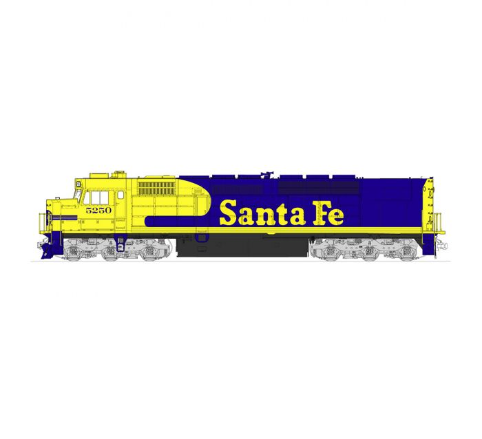 New Kato N Scale Locomotive EMD SDP40F Type IVa AT/&SF Santa Fe #5250 176-9211