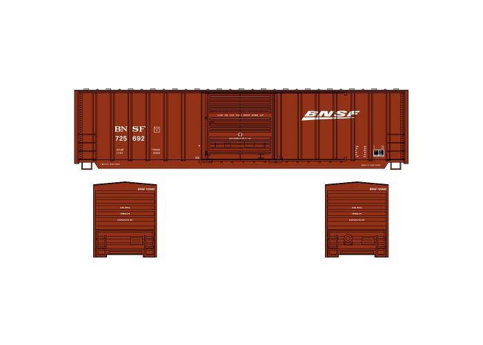 Athearn ATH1235 N Scale 50ft Berwick Boxcar, BNSF #795692
