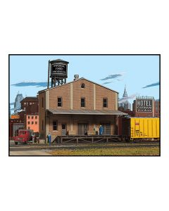 Walthers Cornerstone HO Scale Building Kit Imperial Food Products Background