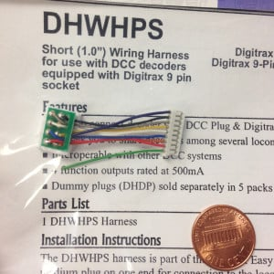 Digitrax DHWHPS 1-inch Short Harness