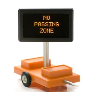 HO Scale no passing Sign