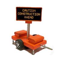 Miniatronics Caution Construction Ahead Sign