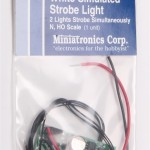 Miniatronics Dual synchronized simulated strobe light - white