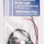 Miniatronics Dual synchronized simulated strobe light - white