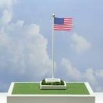 Miniatronics HO Waving American Flag with 50 stars