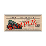 TTX Gift Certificate Single