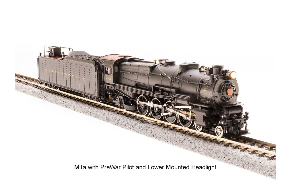 Broadway Limited Imports BLI, N Scale, HO PRR M1a & M1b 4-8-2