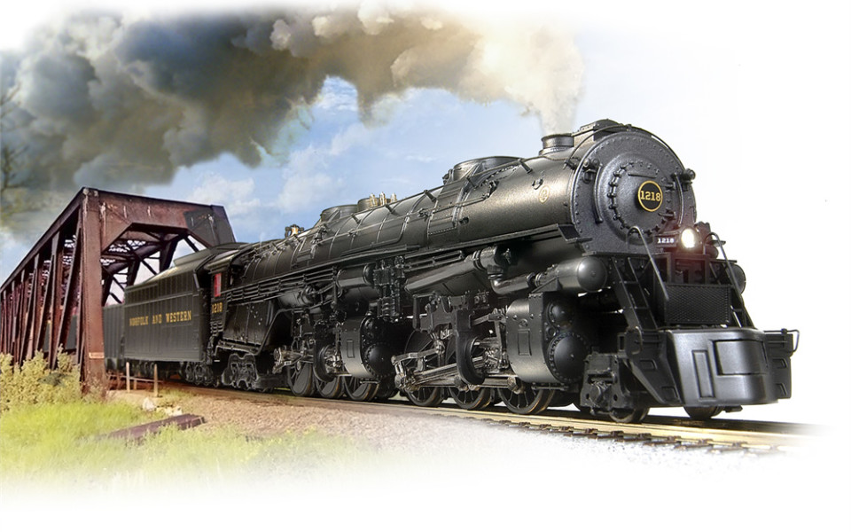 Broadway Limited Imports HO N&W Class A 2-6-6-4 #1218, Par 3 Sound, BLI-4475