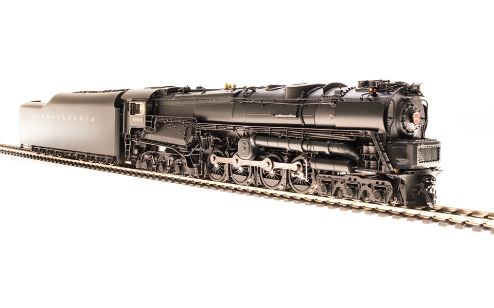 Broadway Limited Imports HO PRR S2 Turbine w Paragon3 Sound, #6200 Small Smoke Deflectors, BLI-2695
