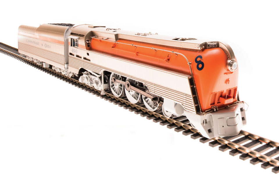 Broadway Limited Imports BLI-4553, HO Brass Hybrid C&O L-1, 4-6-4, Paragon3 Sound, Orange Boiler #493