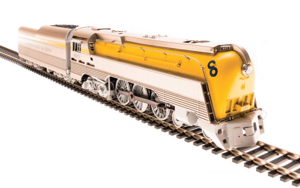Broadway Limited BLI-4554, HO Brass Hybrid C&O L-1, 4-6-4, Paragon3 Sound, Yellow Boiler #490