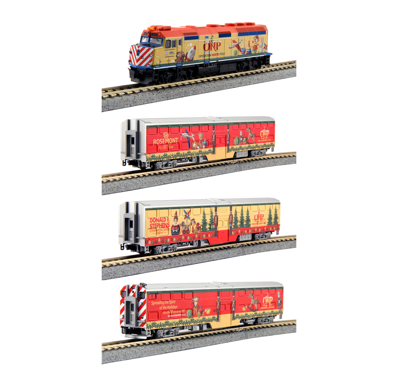 Kato 106-2015 N Scale Operation North Pole Christmas Train Set