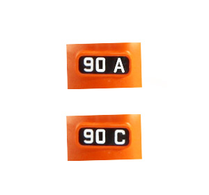 Kato 11-650, N Scale Alternate Number Boards for Milwaukee Road FP7A, #90A & #90C