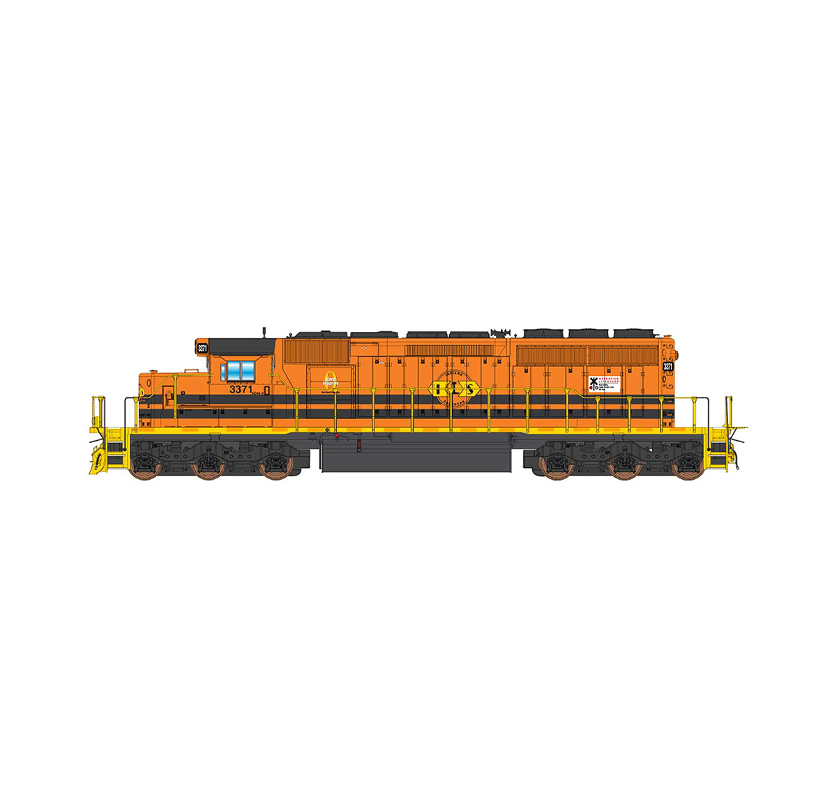 InterMountain 69374S-04 N Scale EMD SD40-2, ESU LokSound, G&W #3388