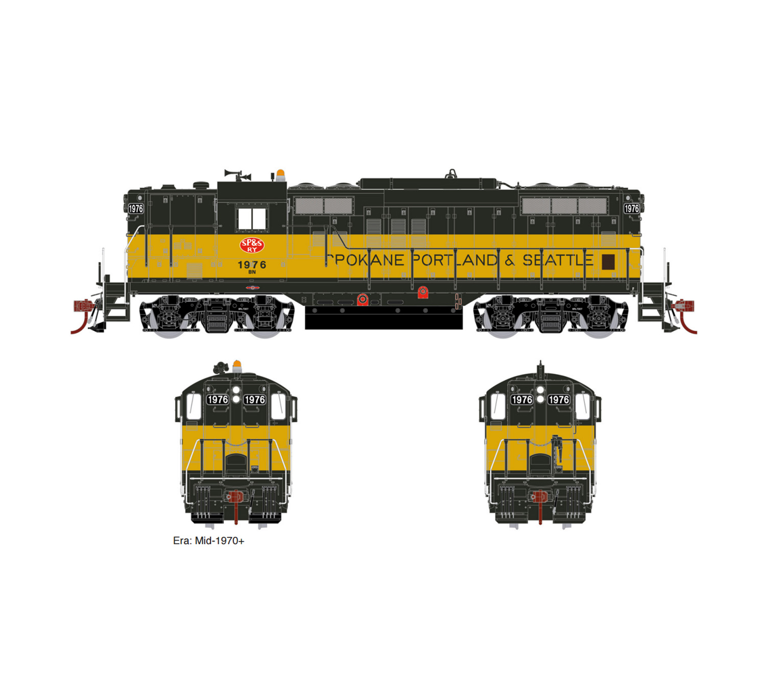 Athearn Genesis HO EMD GP9, With Tsunami2 Sound & DCC, BN/SP&S Patch #1980, ATHG64305