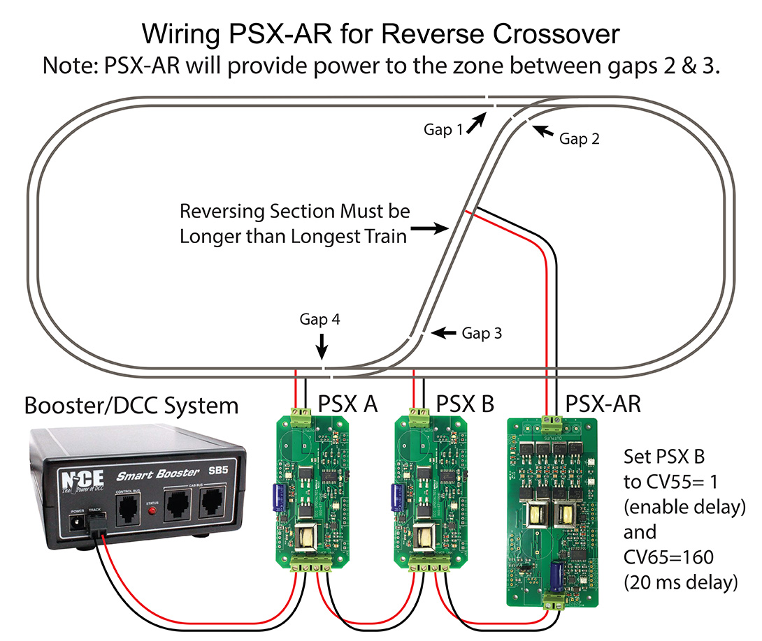 Wiring PSX-AR Circuit Breaker Auto Reverser For Reverse Loop ... on