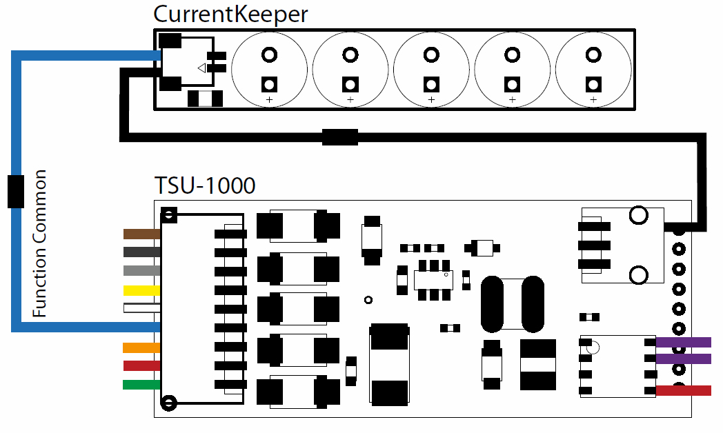 TSU 1000 Current Keeper Wiring Diagram how to add current keeper to soundtraxx tsunami decoders tony's soundtraxx tsunami wiring diagram at alyssarenee.co