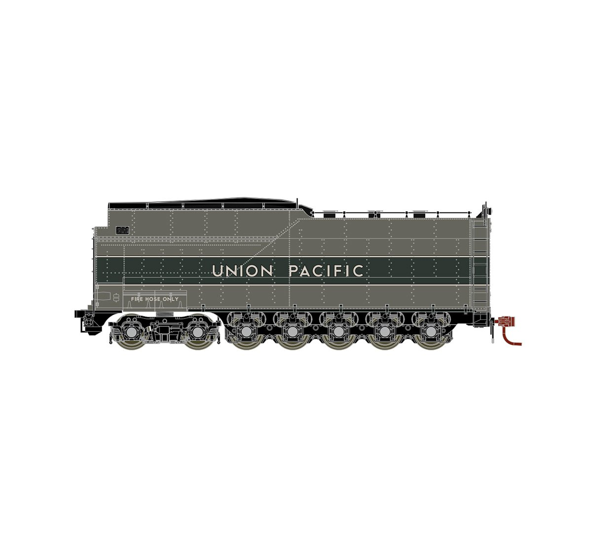 Athearn Genesis HO UP Late Challenger 4-6-6-4 Coal Tender, ATHG16000