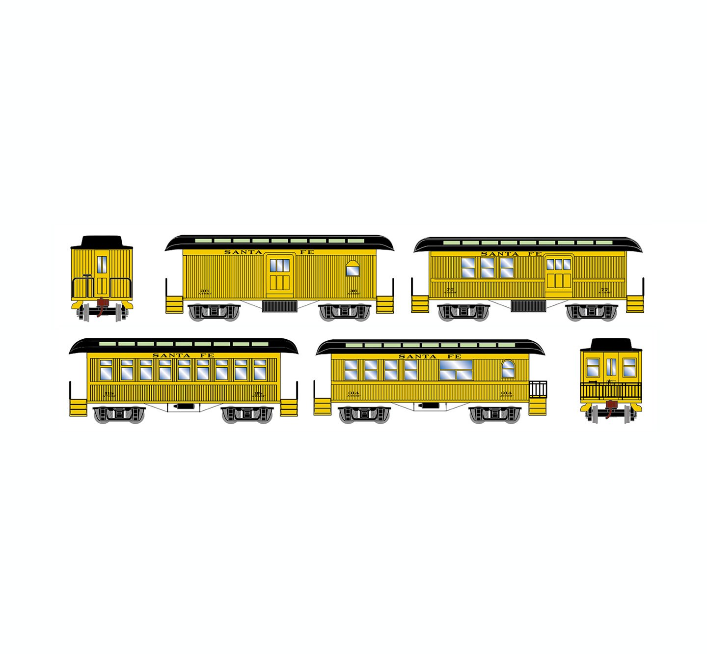 athearn-old-time-overton-4-car-set-atsf