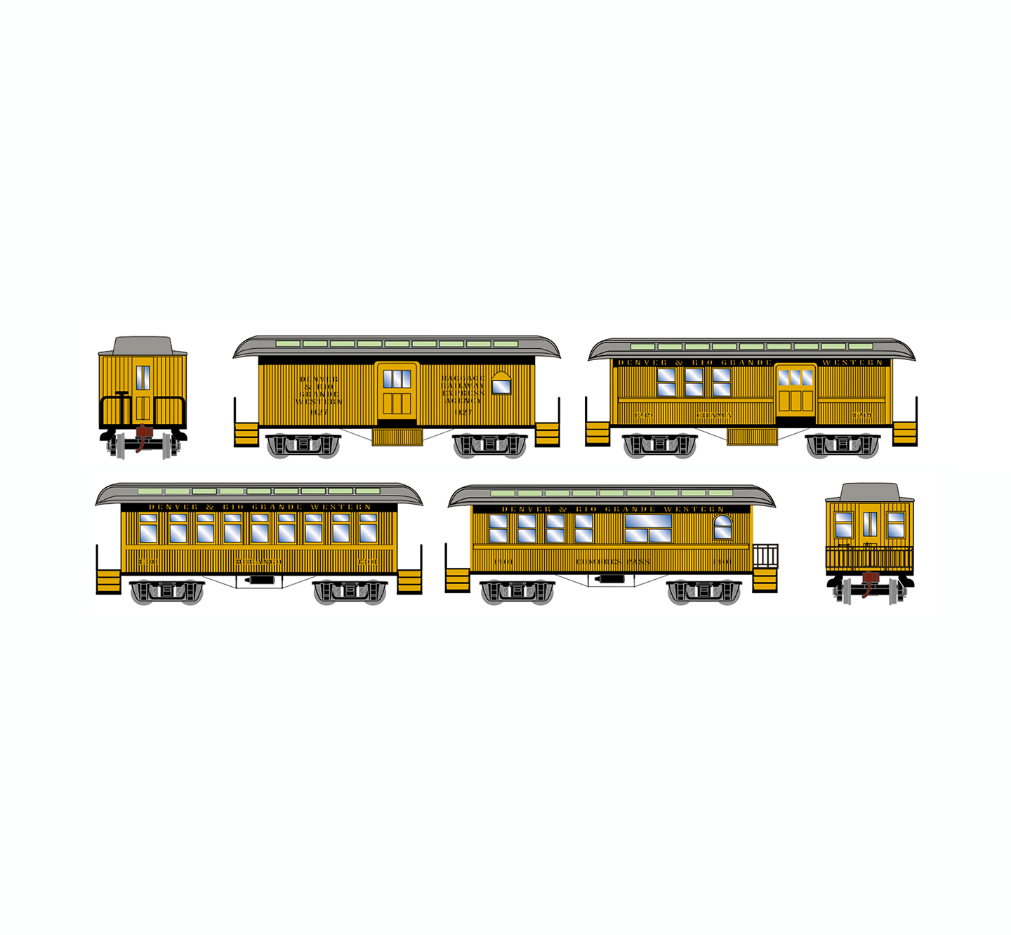 athearn-old-time-overton-4-car-set-drgw