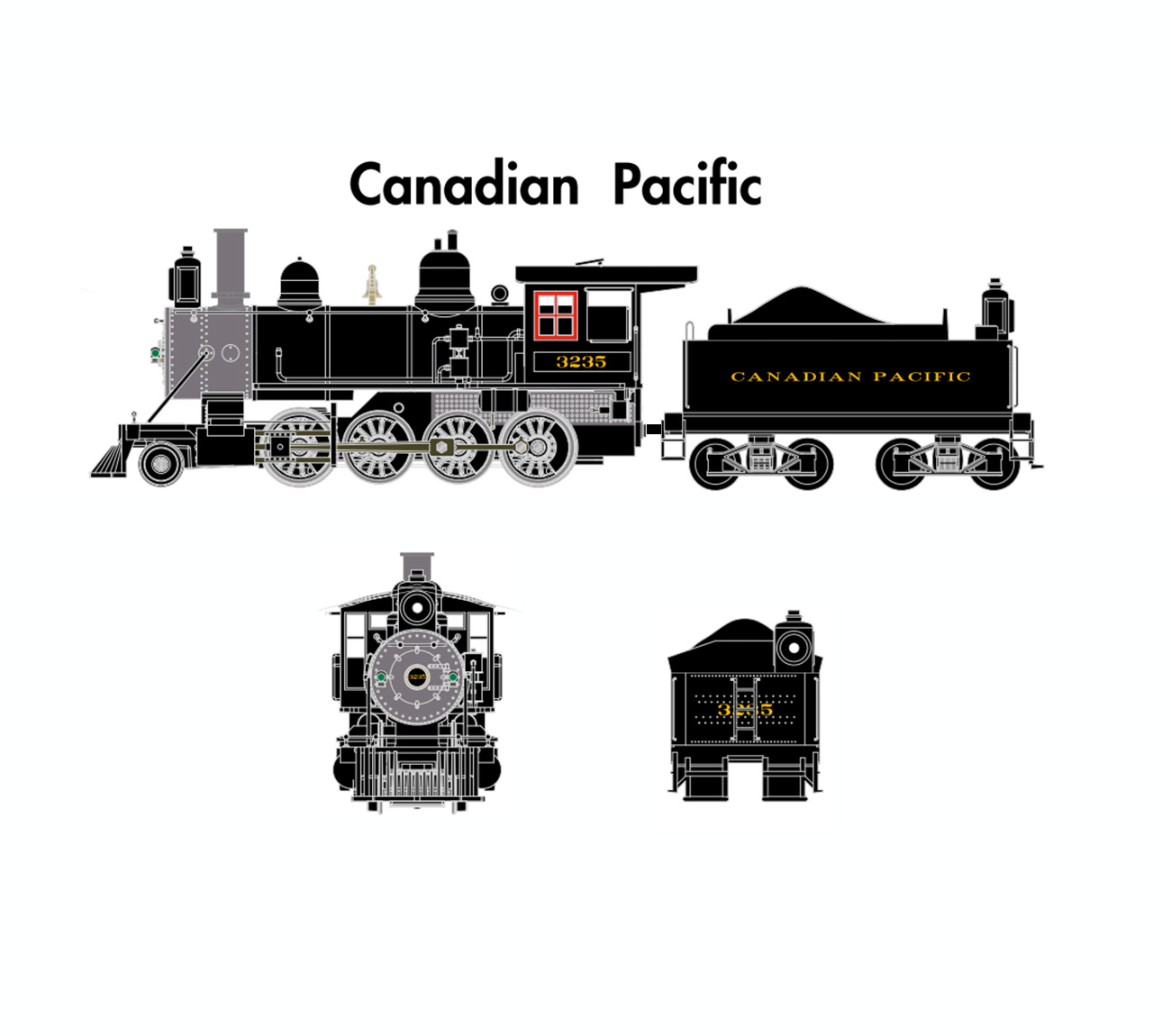 Scale steam locomotives for sale n scale steam locomotives - Athearn N Scale Old Time 2 8 0 Dc Cpr 3235 Ath06804