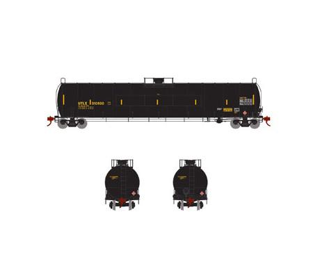 athearn_genesis_lpg_tank_car_utlx_flat_panel_yellow_910890