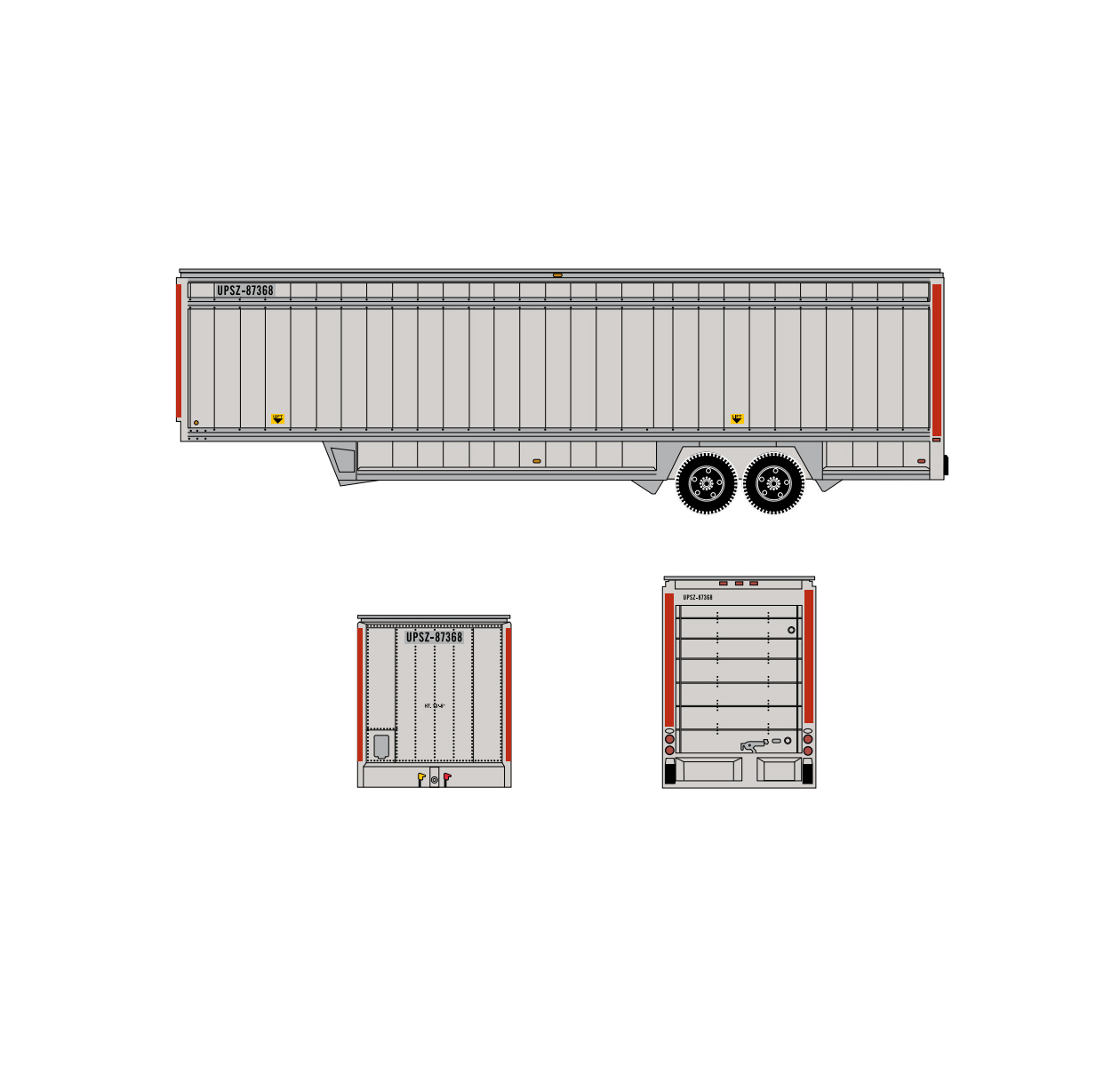 athearn_n_40'_ups_trailer_red_stripes