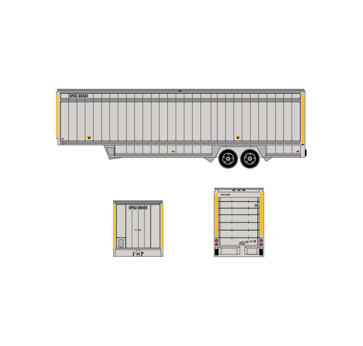 athearn_n_40'_ups_trailer_yellow_stripes