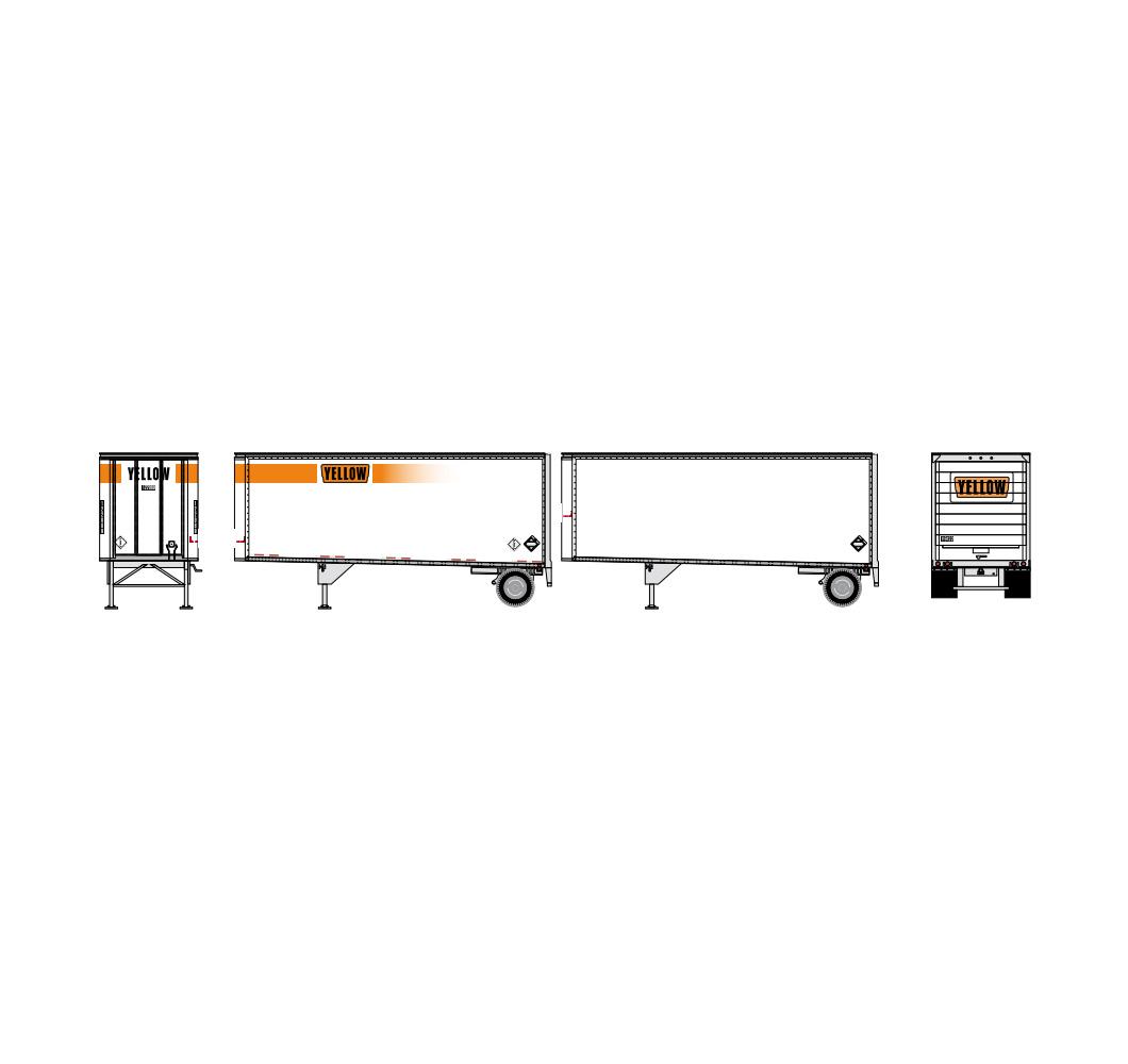 athearn_nscale_28'_trailer_w-dolly_2pk_yellow_1