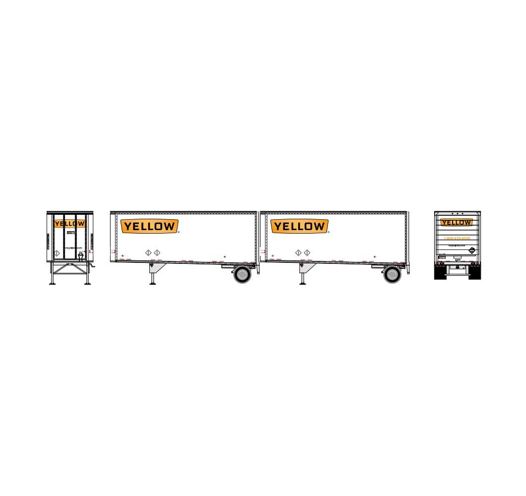 athearn_nscale_28'_trailer_w-dolly_2pk_yellow_2