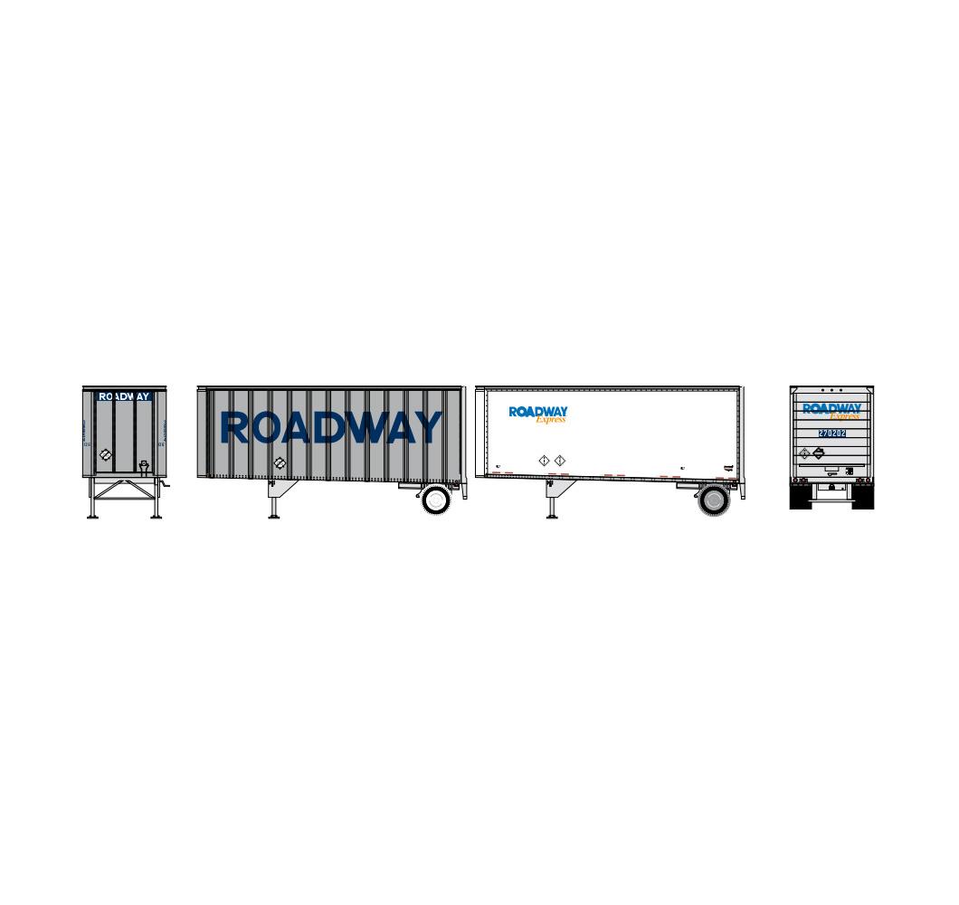 athearn_nscale_rtr_28'_trailer_w-dolly_2pk_roadway_express