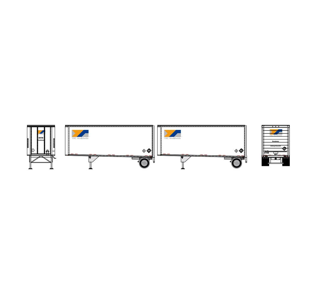 athearn_nscale_rtr_28'_trailer_w-dolly_2pk_yrc