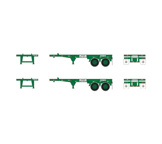 athearn_rtr_ho_20'_container_chassis_evergreen