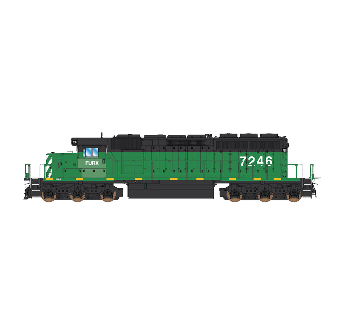InterMountain 69387-06 N Scale EMD SD40-2 DC, FURX Ex-BN Patch #8126