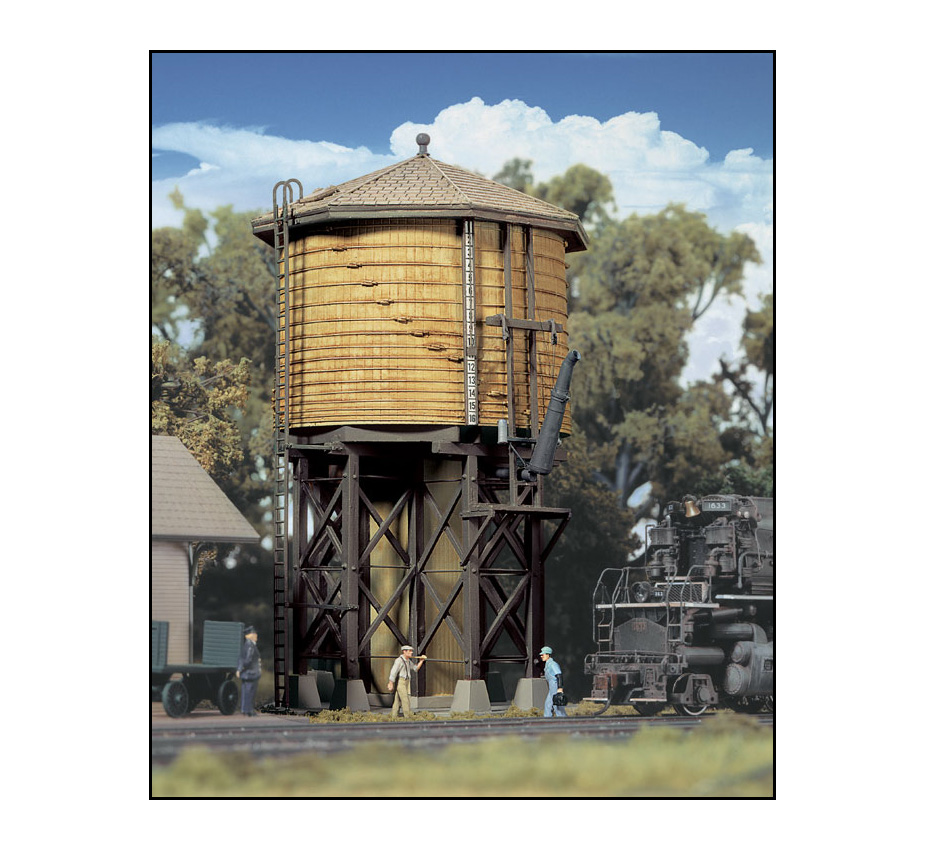 933-2813_walthers_cornerstone_wood_water_tank_yellow