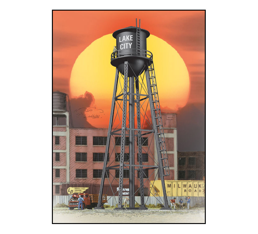 933-2825_walthers_cornerstone_city_water_tower_blk