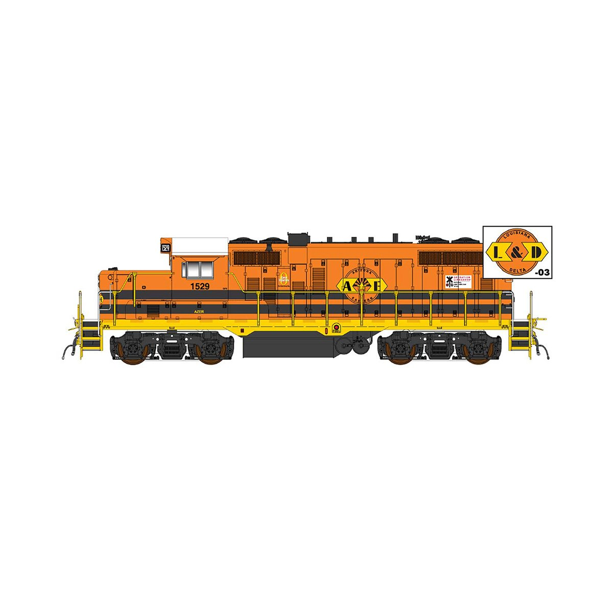 InterMountain 49871-01, HO EMD GP10 Paducah DCC, G&W/A&E #1529
