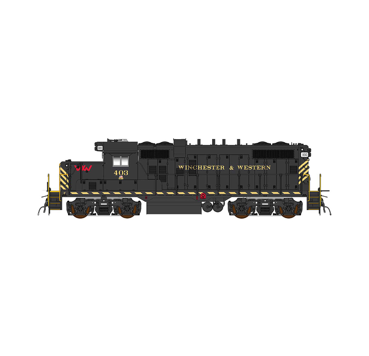InterMountain 49870S-02 HO EMD GP10 Paducah, ESU LokSound & DCC, W&W (w/DL) #403