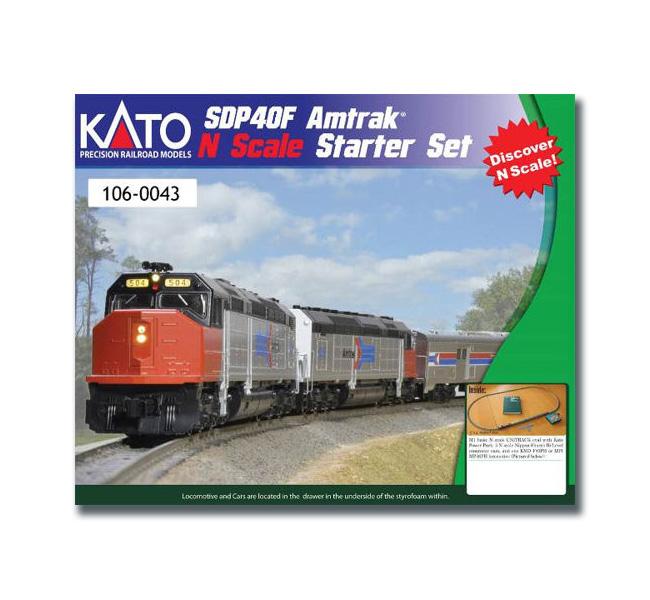 Kato 106-0043 N Scale EMD SPD40F Amtrak Phase I Starter Set