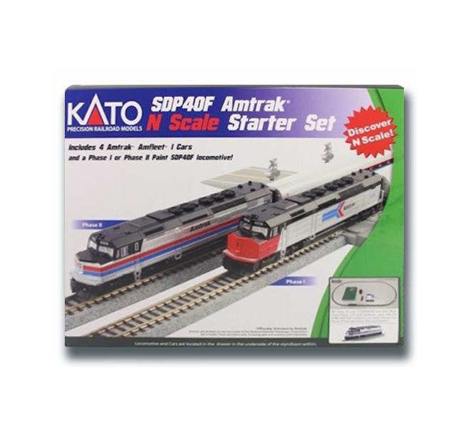 Kato 106-0044 N Scale EMD SPD40F Amtrak Phase II Starter Set