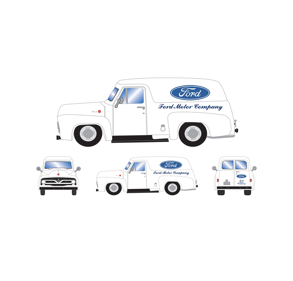 athearn_readytoroll_ho_ford_1955_f-100_panel_truck_ford