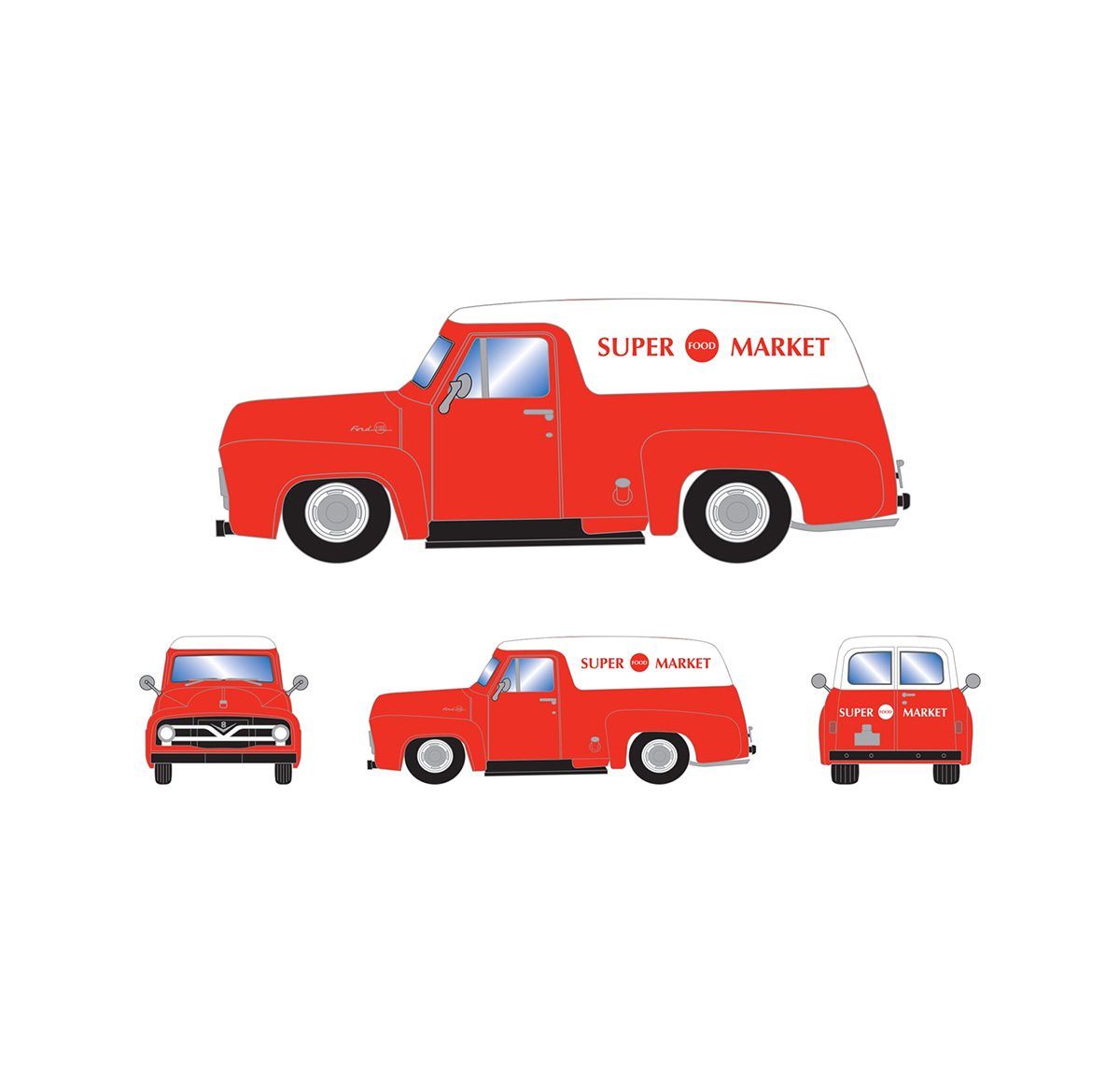 athearn_readytoroll_ho_ford_1955_f-100_panel_truck_supermarket
