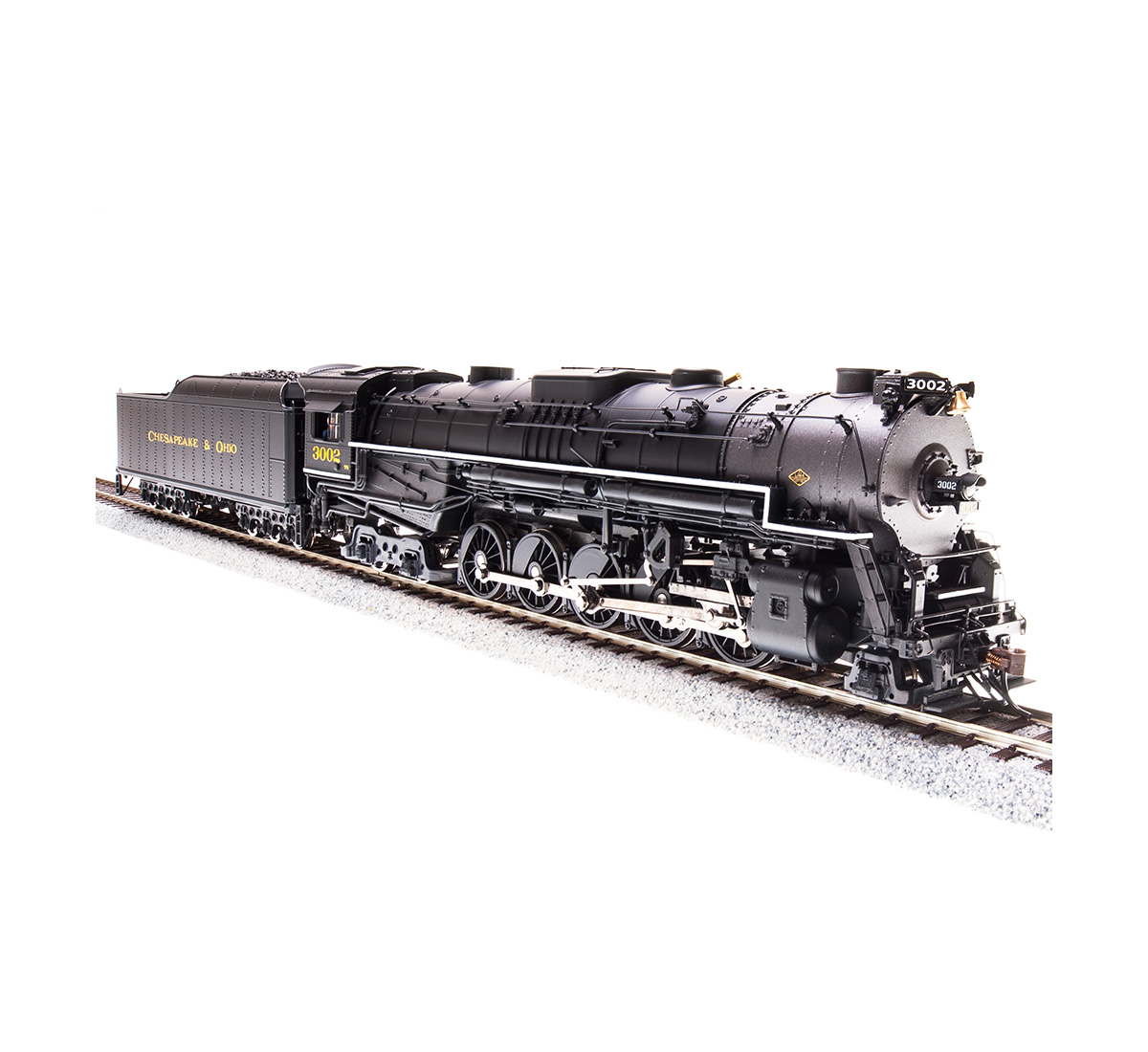 Broadway Limited Imports HO C&O T-1 2-10-4, Paragon 3 Sound, Cab #3000, BLI-4586