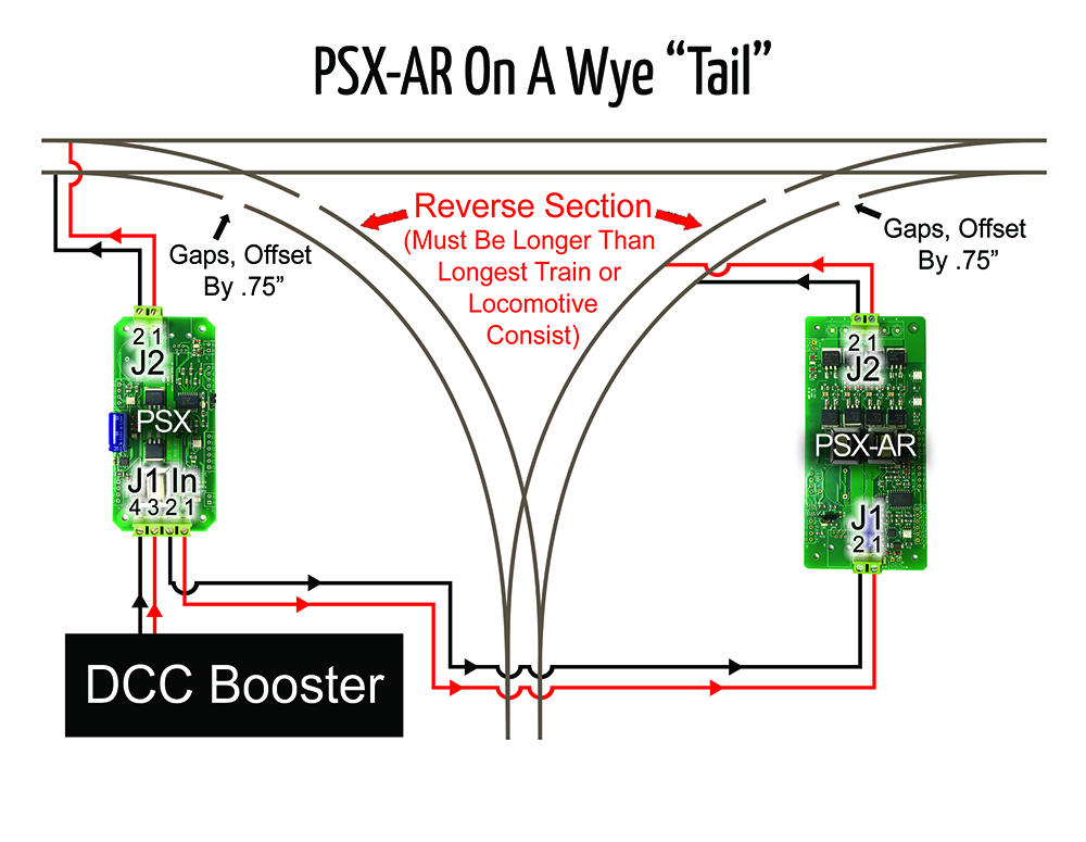 DCC Specialties PSX-AR On A Wye Tail Diagram | News & Resources on