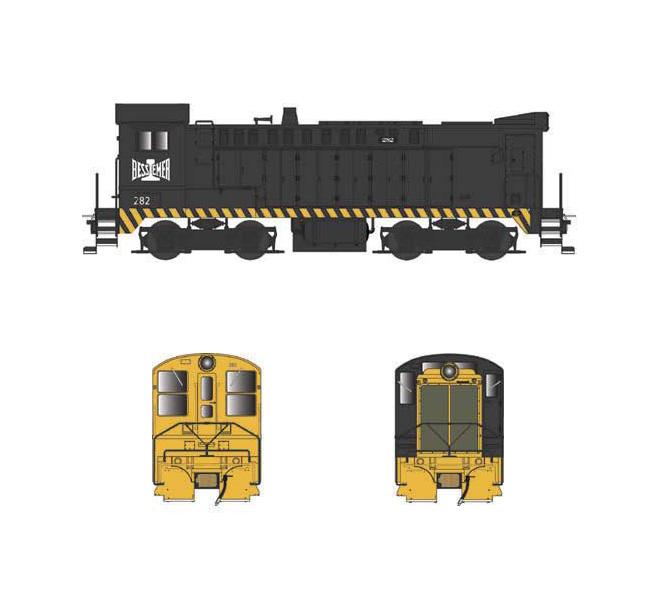 Bowser 24775, HO Baldwin DS 4-4-1000, Standard DC, B&LE #282