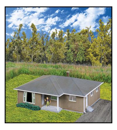 933 3838 Walthers Cornerstone Brick Ranch House